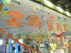 宮崎県綾町スタイルウィーク@フォレスタ虎ノ門に、キットパスで窓アートに協力しました(2011年1月31日〜2月4日)