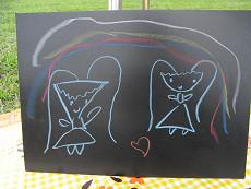 アウトドアウエディング@城南島海浜公園にキットパスおえかきコーナーで参加しました。(2010年9月26日)