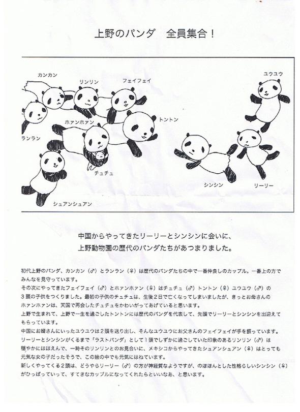 めぐり・ウインドー・ギャラリー第7弾は藤永結さんの『上野のパンダ全員集合』  5月23日〜6月19日