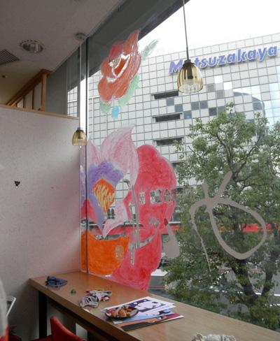 【パート1】めぐり・ウインドー・ギャラリー第8弾はファッションイラストレーターのyun(ユン)さんの『書生喫茶店―ショセイ・カフェ』(2011年6月20日〜7月中旬) 【更新しました!7月4日】