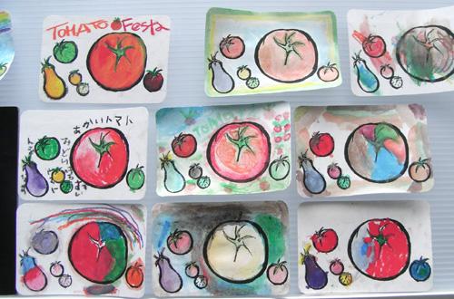 第7回トマトフェスタにキットパスでトマトの絵を描こう!で参加しました(2011年8月7日)