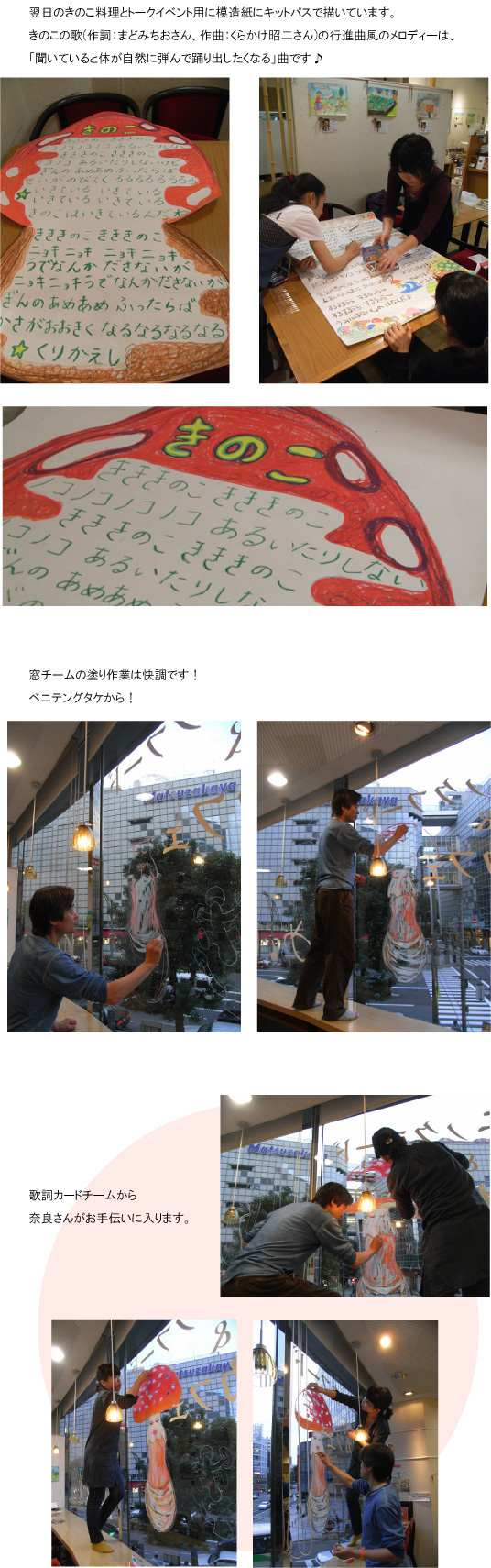めぐり・ウインドー・ギャラリー第13弾は飯沢耕太郎さんの『きのこCafe(カフェ)』(2011年11月18日〜12月中旬)