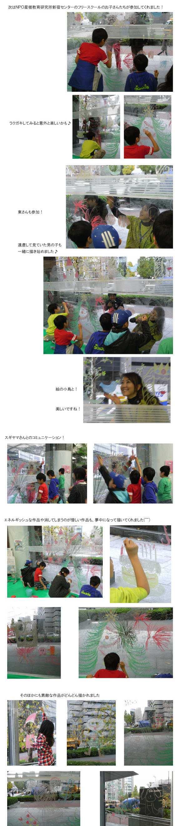 Get in touch!イベント「みんなで<大>ラクガキ」にキットパスで参加しました          (2011年12月1〜3日)