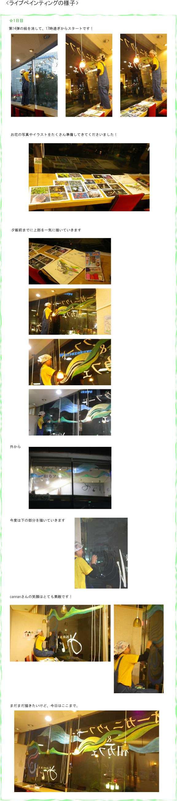 めぐり・ウインドー・ギャラリー第15弾はcannan(カナ)さんの『めぐりめぐって、』(2012年1月29日〜2月末)