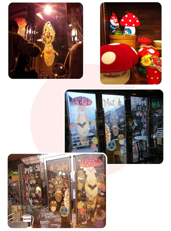 飯沢耕太郎さんによるマッシュルームナイト大阪:トークショー&キットパスライブペインティング(2012年2月24日)