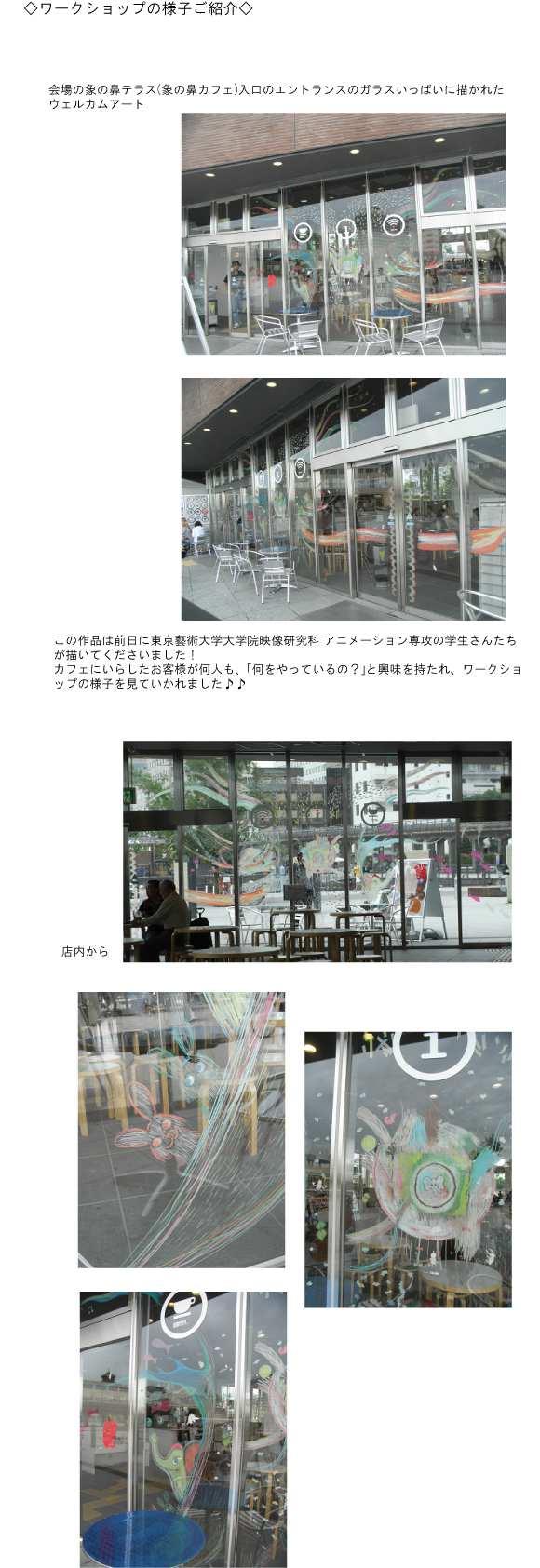 Atelier ZOU-NO-HANA -こどものためのワークショップ- Vol.11 東京藝術大学「象の鼻ミュージックビデオをつくろう!」にキットパスで参加しました(2012年6月17日)