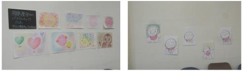粉が出ない!窓ガラスにかいて消せる不思議なチョーク「キットパス」でお絵かき♪          横浜市 子どもアドベンチャー2012