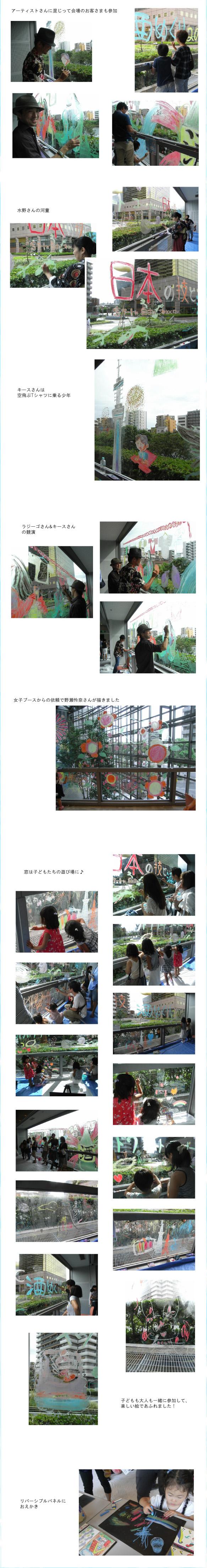 すみだ日本の技と酒めぐり2012 Tシャツでつながる日本のものづくり。TOKYO EAST墨田で日本の味、技、アートを感じよう!にキットパスで参加しました(2012年9月2日)