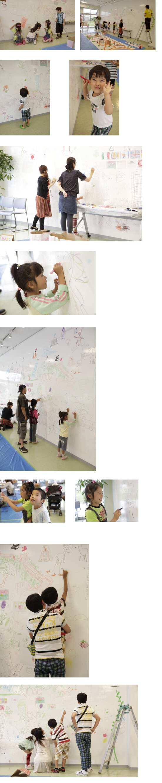 クリエイターチーム「カラフル」キットパスを使ったワークショップ第1弾「きみの住むまち きみの住むくに きみの住むほし」(2013年6月16日)