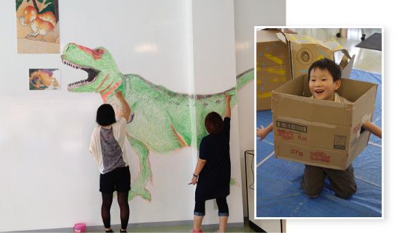 クリエイターチーム「カラフル」キットパスを使ったワークショップ第2弾「恐竜パーク」(2013年8月11日)
