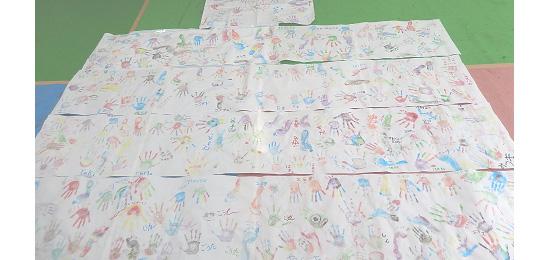 福島康司さんと「キットパス」で描く五感アート@横浜市役所子どもアドベンチャー2013(2013年8月21日)