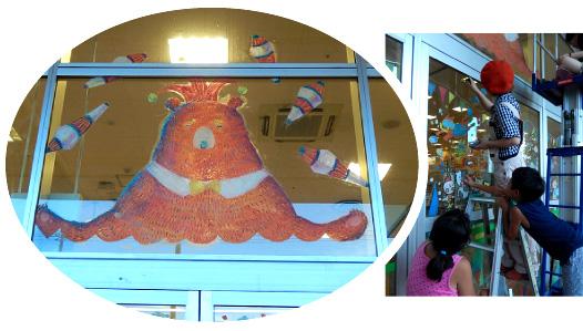 武蔵野美術大学アーティストユニット「POKKE(ぽっけ)」鈴木友唯さん&武田幸絵さんのライブペイントとキットパスお絵かきを開催しました@サミットストア下倉田店(2014年8月3日)