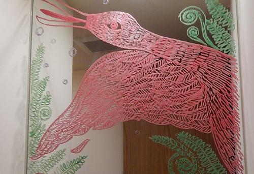 めぐたまキットパスミラーギャラリーVol.8 笹木芳夫さんの「雪と鳥」(2015年11月24日〜)
