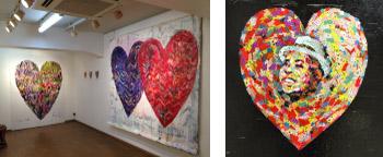 めぐたまキットパスウインドーギャラリー 西村公一さんの「Heart Beat」(2016年2月14日〜20日)
