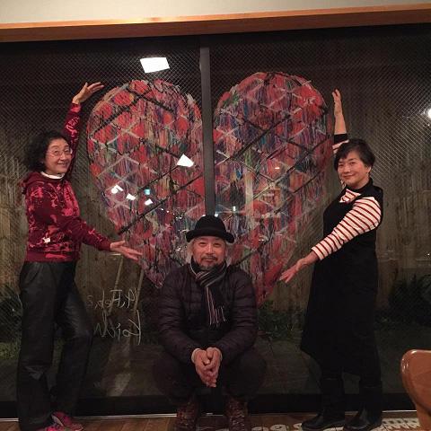 めぐたまキットパスウインドーギャラリー第2弾 西村公一さんの「My Funny Valentine」(2017年2月14日〜3月14日)