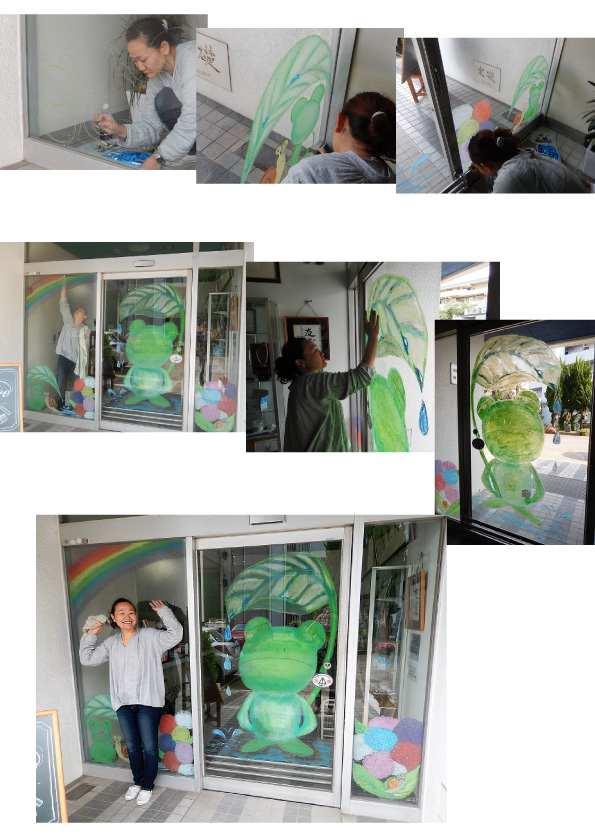 川崎工場ウインドーギャラリー第16弾 北 智恵さんの「梅雨」(2018年5月24日〜7月27日)