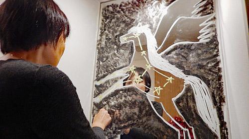 めぐたまキットパスミラーギャラリーVol.22 宮田麻貴子さんの「ペガスス座51番星」(2018年10月15日〜)
