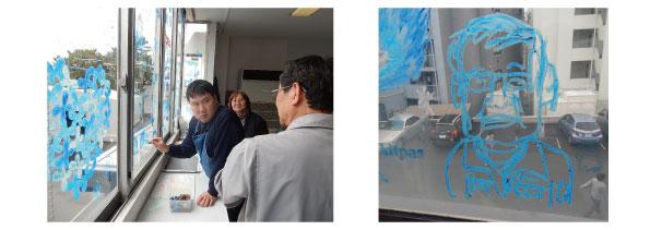 佐々木卓也さんの日本理化学工業(株)川崎工場ウインドーギャラリー第19弾「春のどうぶつたち」(2019年3月7日)
