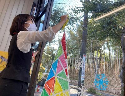 日本郵便様:横浜青葉地区10局でのキットパスウィンドウアート