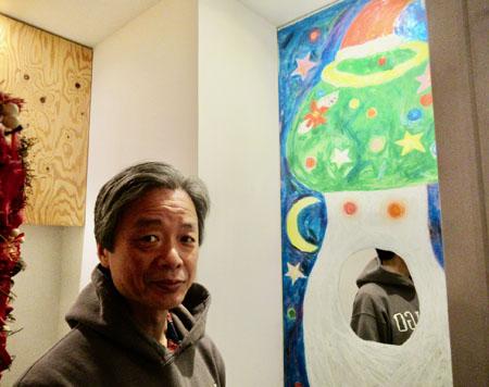 めぐたまキットパスミラーギャラリーVol.29 飯沢耕太郎さんの「マッシュルームX'mas」(2020年12月14日〜)